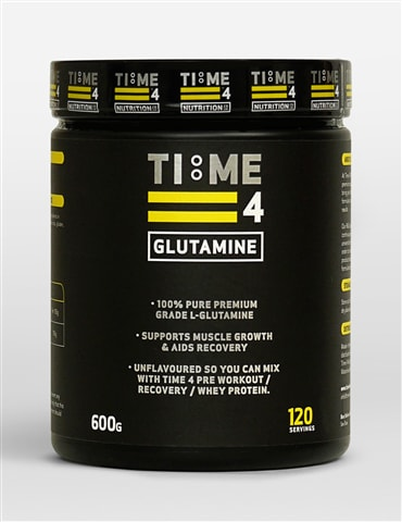 Time 4 Glutamine 600g 120 Servings - 100% Pure Premium Grade L - Glutamine