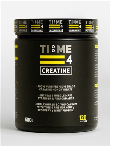 Time 4 Creatine is 100% 600g - 120 Servings