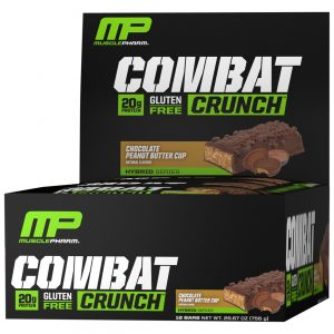 MusclePharm Combat Crunch Bars Chocolate Peanut Butter Cup – 12 Bars