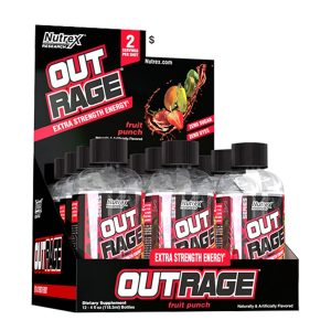 Nutrex Research Outrage Energy Shots Fruit Punch – 12 Shots